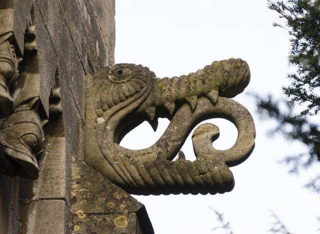 Crocodile grotesque, St Helen's church, Thorney