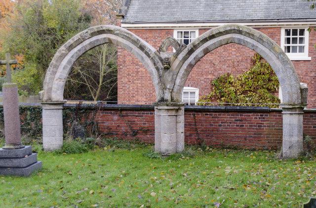 Re-erected 15th century arcade