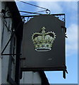 NY5228 : Sign for the Crown Hotel, Eamomt Bridge by JThomas