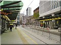 SJ8397 : St Peter's Square Tram Stop by Gerald England