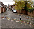 SO8963 : Posts across Burrish Street, Droitwich by Jaggery