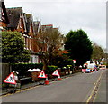 SO8963 : Ombersley Street West roadworks, Droitwich by Jaggery