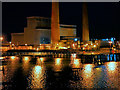 O2033 : Dublin Harbour, Poolbeg Power Station by David Dixon