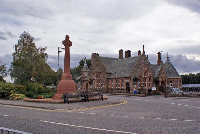 War memorial and Perrins Centre