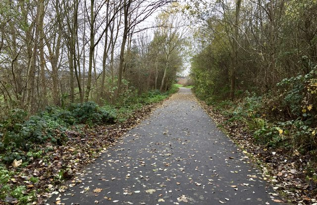 Newcastle-under-Lyme: path and cycleway