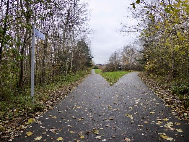 Newcastle-under-Lyme: cycleway junction