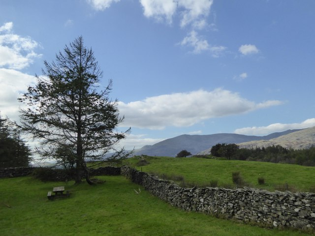 View towards Coniston from High Cross picnic area, Hawkshead