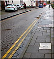 SO8963 : Information tile in the St Andrew's Street pavement, Droitwich by Jaggery