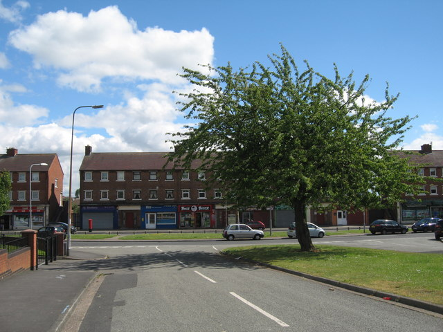 Parade of shops on Molyneux Road from Bryer Road