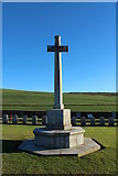 NS2515 : Cross of Sacrifice, Dunure Cemetery by Billy McCrorie