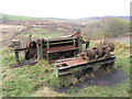 SO0903 : Disused equipment in Cwm Bargoed by Gareth James