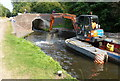 SO8798 : Dredging next to Wightwick Mill Lock No 30 by Mat Fascione