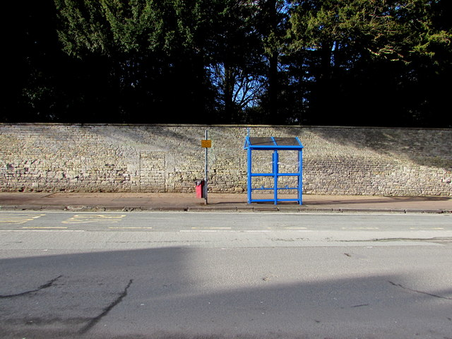 Small blue bus shelter, Cirencester