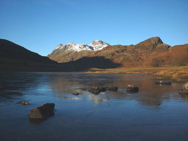 A frozen Blea Tarn