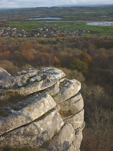 Last light on Warton Crag