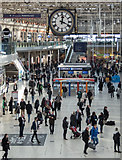 TQ3179 : Clock and Concourse at Waterloo Station, London SE1 by Christine Matthews