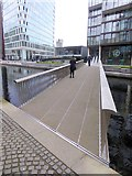 TQ2681 : The Fan Bridge, Paddington Basin by Oliver Dixon