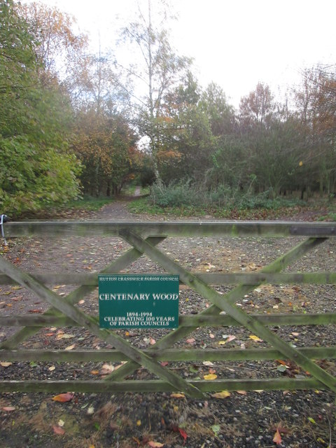 Entrance  to  Centenary  Wood  Hutton