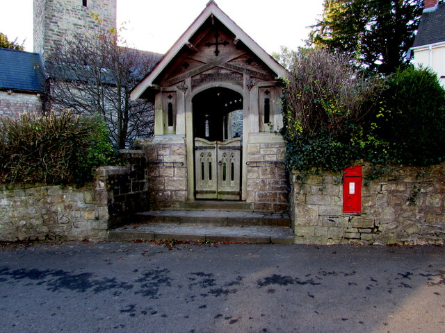 Grade II listed lychgate, Michaelston-le-Pit