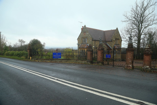 An entrance to Abberley Hall School