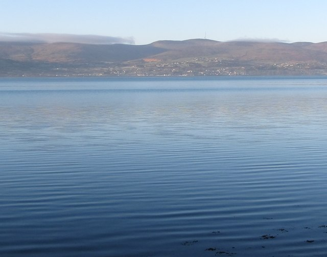 The village of Omeath, Co Louth seen across Carlingford Lough from Rostrevor, Co Down