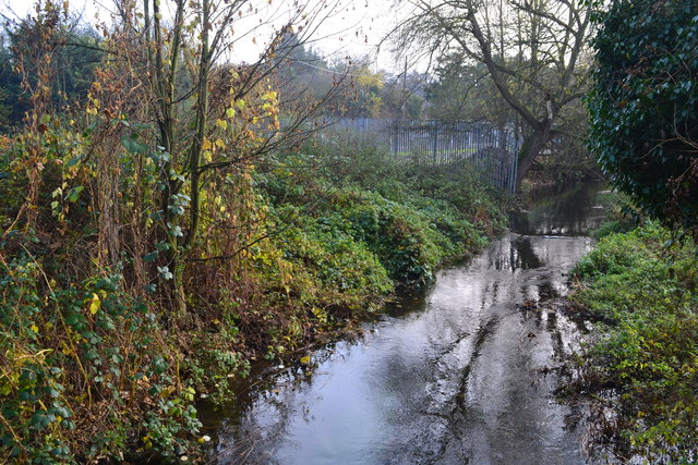 River Darent at the bottom of Darenth Hill