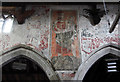 TL4070 : St Mary & All Saints, Willingham - Wall painting by John Salmon