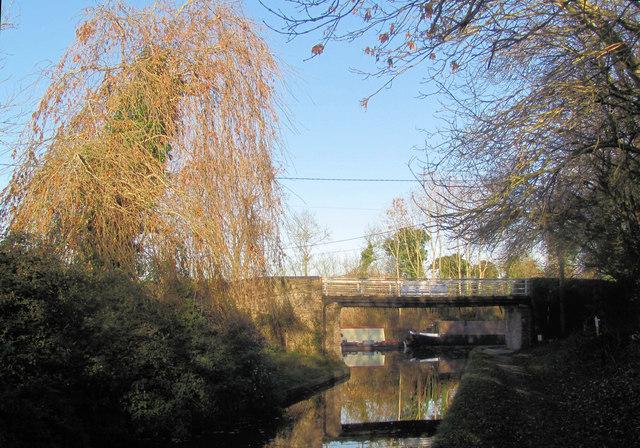 Winter view of Bridge No 1 on the Wendover Arm