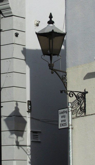Lamp and shadow, St Marychurch