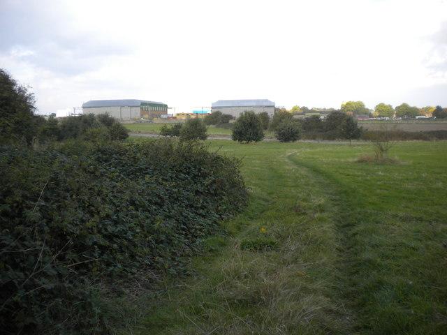 Public footpath south of RAF Newton by Richard Vince