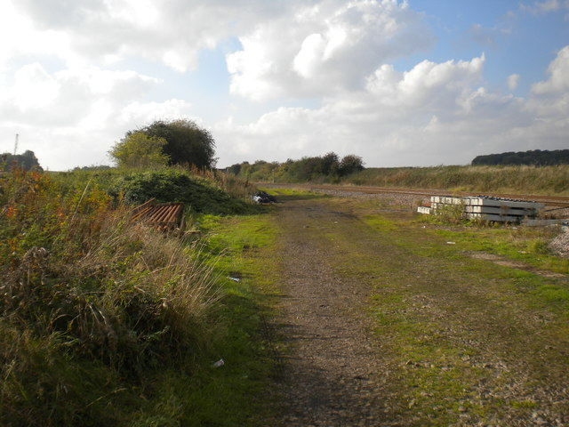 Railway trackbed west of Saxondale level crossing by Richard Vince