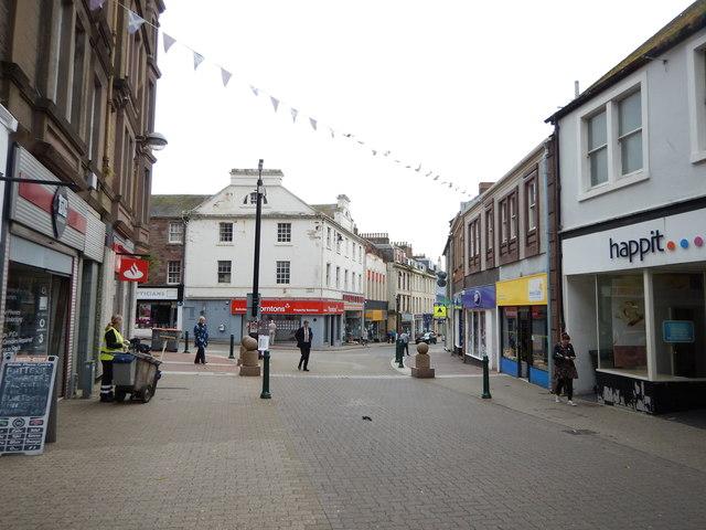 Arbroath - Pedestrian part of the High Street