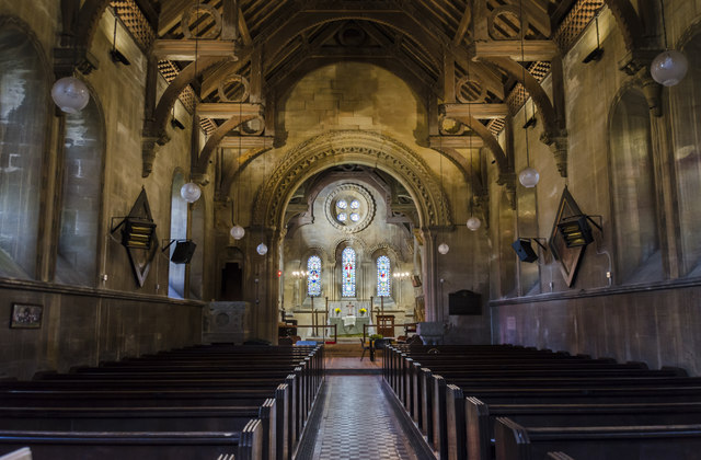 Interior, St Helen's church, Thorney