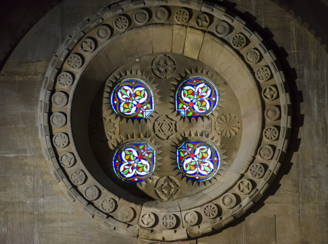 Upper east window, St Helen's church, Thorney