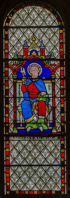 Stained glass window, St Helen's church, Thorney