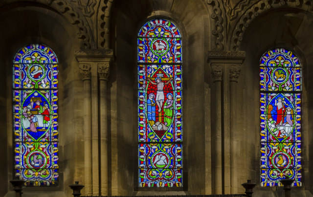 East windows, St Helen's church, Thorney