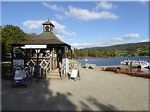SD3097 : Kiosk beside Coniston Water by David Smith