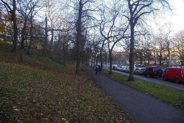 Paths beside London Road