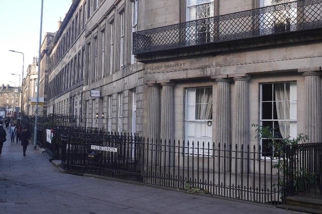 West end of Hillside Crescent
