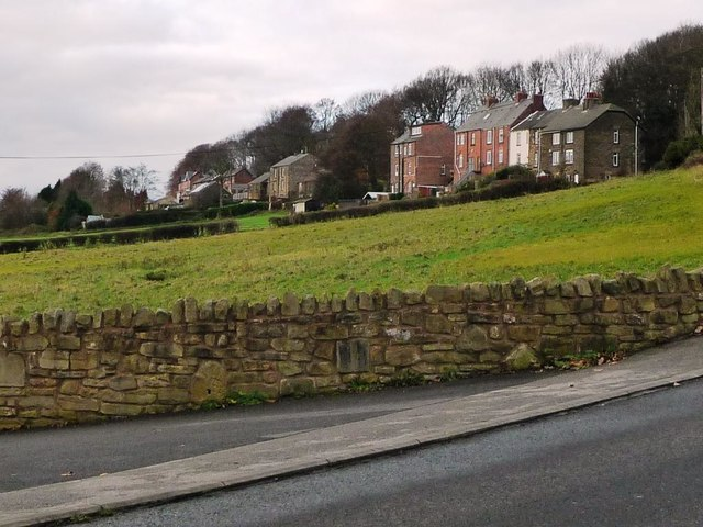 Three-storey houses on Station Road, Lewden Hill