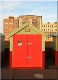 TQ2704 : Beach Hut 227, Western Esplanade, Hove by Simon Carey