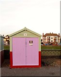 TQ2704 : Beach Hut 367, Western Esplanade, Hove by Simon Carey