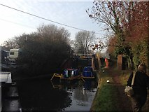 SP6165 : Grand Union Canal towpath by Dave Thompson