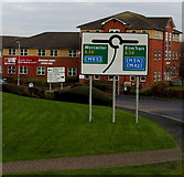 SO9568 : A38 directions sign facing Buntsford Drive, Bromsgrove by Jaggery