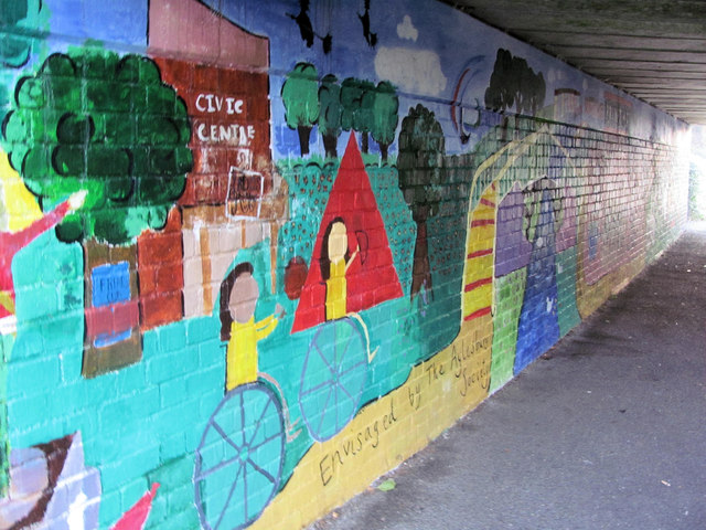 Canalside Mural under Bridge 18 of the Aylesbury Canal (1)