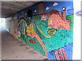 SP8213 : Canalside Mural under Bridge 18 of the Aylesbury Canal (2) by Chris Reynolds