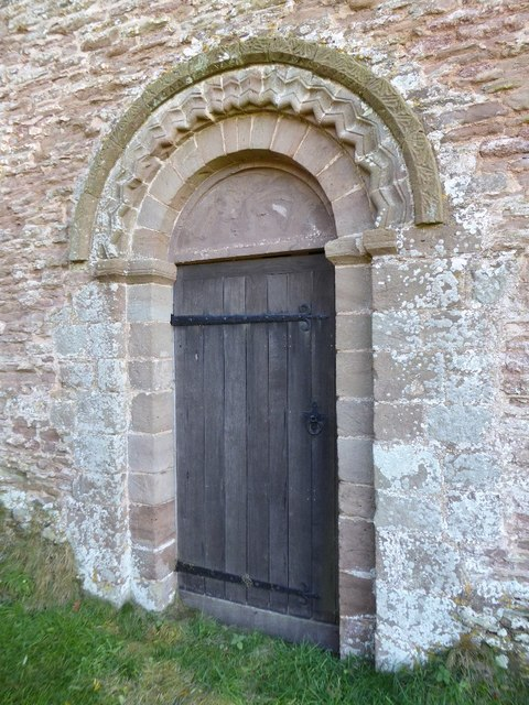 Norman arch and door, Pudleston church