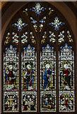 TL1998 : Stained glass window, St John the Baptist church, Peterborough by Julian P Guffogg