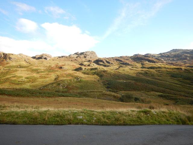 Road close to Hardknott Pass