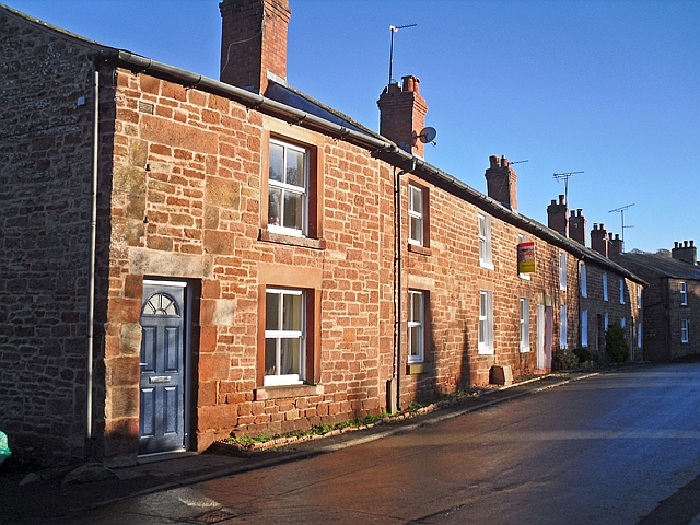 Row of cottages, Craw Hall